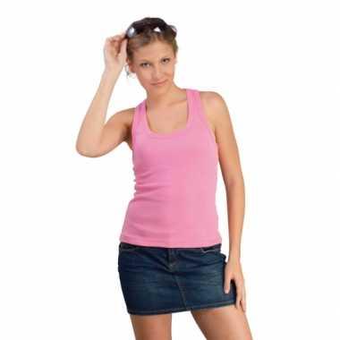 Dames roze t-shirt zonder mouw Coconut