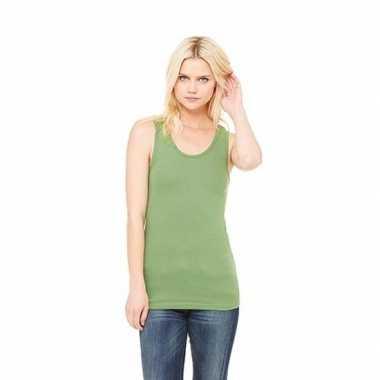 Dames t shirt zonder mouw groen
