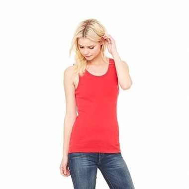 Dames t shirt zonder mouw rood