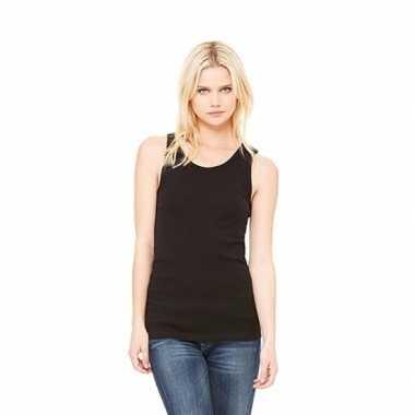 Dames t shirt zonder mouw zwart