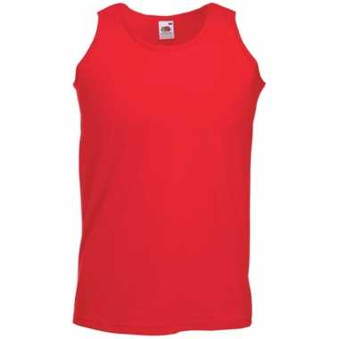 Fruit of the loom rood singlet mouwloos shirt zonder