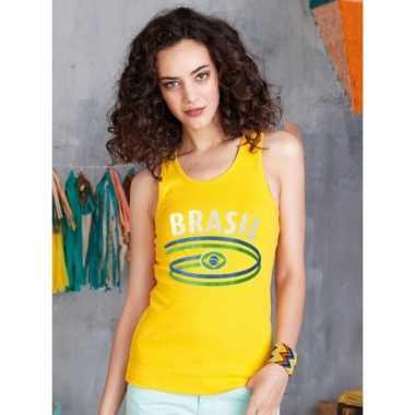 Gele dames t-shirt zonder mouw Brazilie