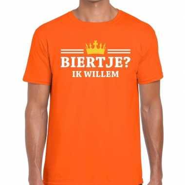 Oranje biertje ik willem t shirt heren zonder mouw