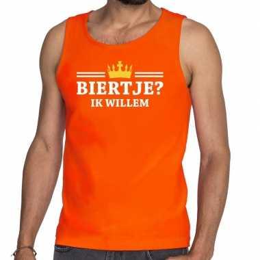 Oranje biertje ik willem t shirt zonder mouw / mouwloos shirt heren