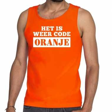 Oranje code oranje t shirt zonder mouw / mouwloos shirt heren