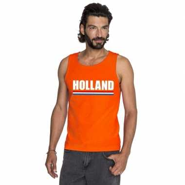 Oranje holland supporter t shirt zonder mouw heren