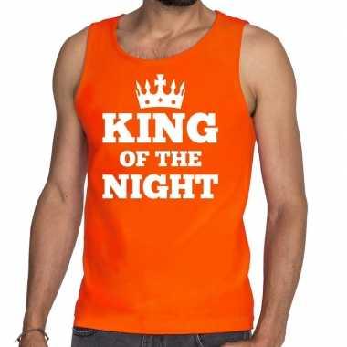 Oranje king of the night t shirt zonder mouw / mouwloos shirt heren
