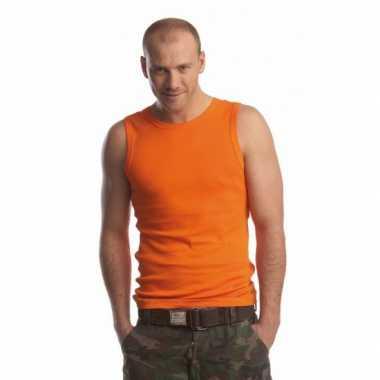 Oranje t-shirt zonder mouw heren