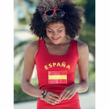 Rode dames t-shirt zonder mouw Spanje