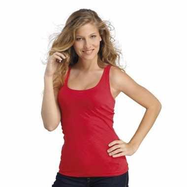 Rode dames t-shirt zonder mouw