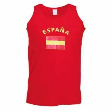 Rood heren singlet Spanje zonder mouw