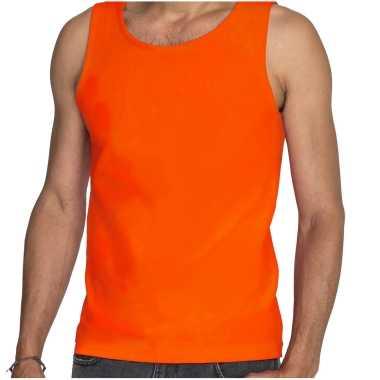 Sols oranje t shirt zonder mouw / hemdje / singlet heren