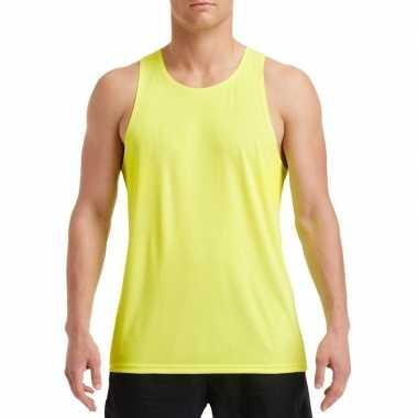 Sport singlet neon groen heren zonder mouw
