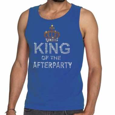 Toppers blauw toppers king of the afterparty glitter t shirt zonder m