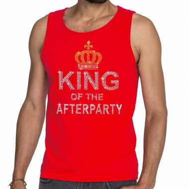Toppers rood toppers king of the afterparty glitter t shirt zonder mo