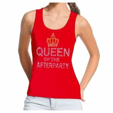 Toppers rood toppers queen of the afterparty glitter t shirt zonder m