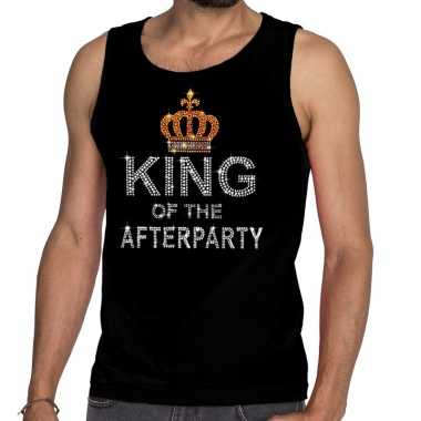 Toppers zwart toppers king of the afterparty glitter t shirt zonder m