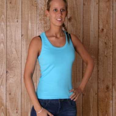 Turquoise dames t-shirt Coconut zonder mouw