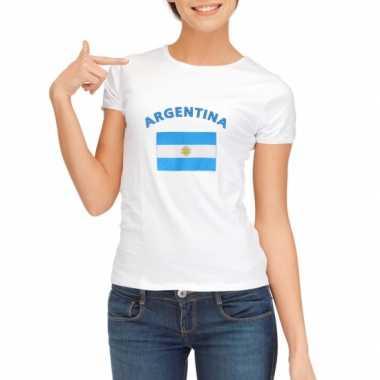 Wit dames t-shirt Argentinie zonder mouw