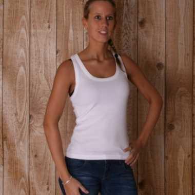 Wit dames t-shirt Coconut zonder mouw