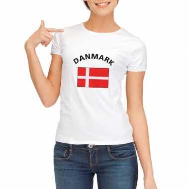 Wit dames t-shirt Denemarken zonder mouw