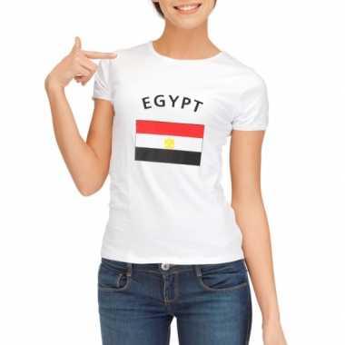Wit dames t-shirt Egypte zonder mouw