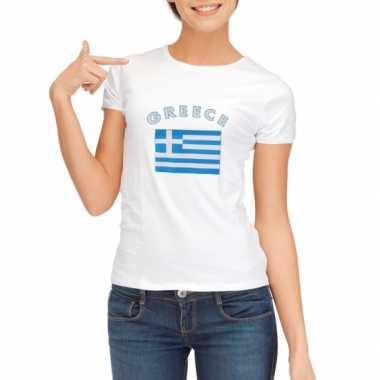 Wit dames t-shirt Griekenland zonder mouw