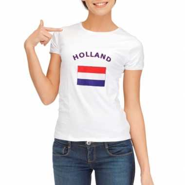 Wit dames t-shirt Holland zonder mouw