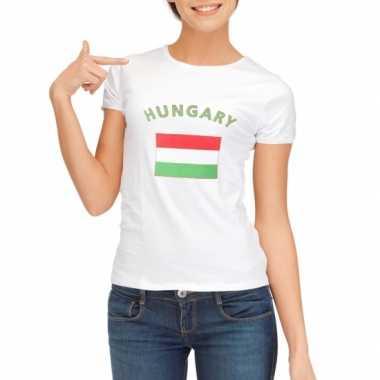 Wit dames t-shirt Hongarije zonder mouw