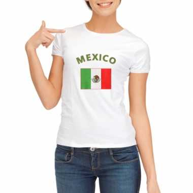 Wit dames t-shirt Mexico zonder mouw