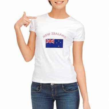 Wit dames t-shirt Nieuw Zeeland zonder mouw