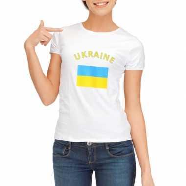 Wit dames t-shirt Oekraine zonder mouw