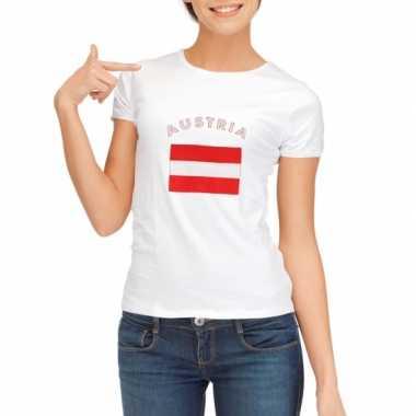 Wit dames t-shirt Oostenrijk zonder mouw