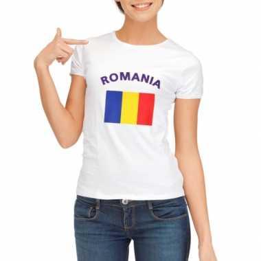 Wit dames t-shirt Roemenie zonder mouw
