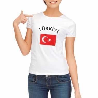 Wit dames t-shirt Turkije zonder mouw
