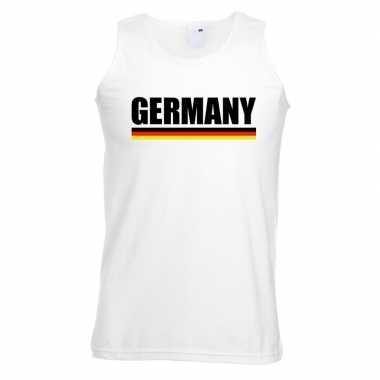 Wit duitsland supporter singlet shirt/ t shirt zonder mouw heren