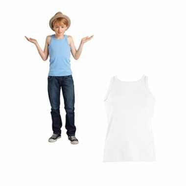Wit mouwloos shirt kinderen zonder