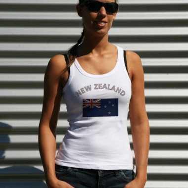 Witte dames t-shirt zonder mouw Nieuw Zeeland