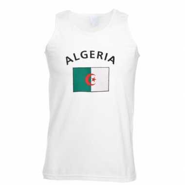 Witte heren t-shirt zonder mouw Algerije
