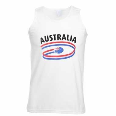 Witte heren t-shirt zonder mouw Australie