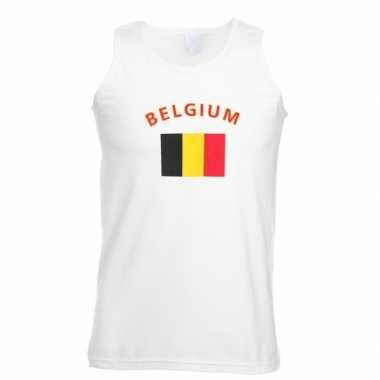 Witte heren t-shirt zonder mouw Belgie