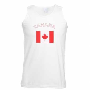 Witte heren t-shirt zonder mouw Canada
