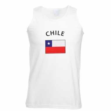 Witte heren t-shirt zonder mouw Chili