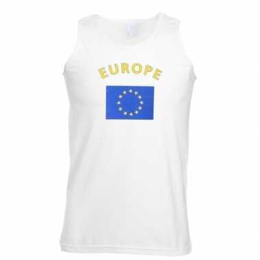 Witte heren t-shirt zonder mouw Europa