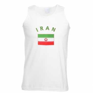 Witte heren t-shirt zonder mouw Iran