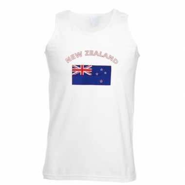 Witte heren t-shirt zonder mouw Nieuw Zeeland