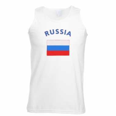 Witte heren t-shirt zonder mouw Rusland