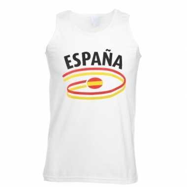 Witte heren t-shirt zonder mouw Spanje