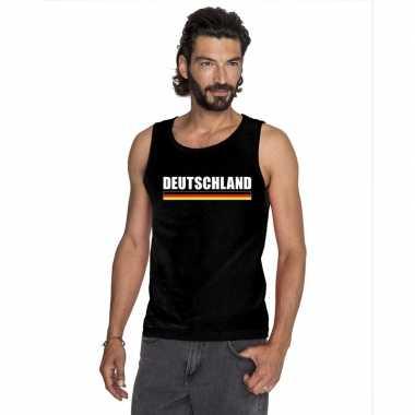 Zwart duitsland supporter singlet shirt/ t shirt zonder mouw heren