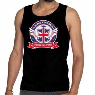 Zwart engeland drinking team t shirt zonder mouw / mouwloos shirt her